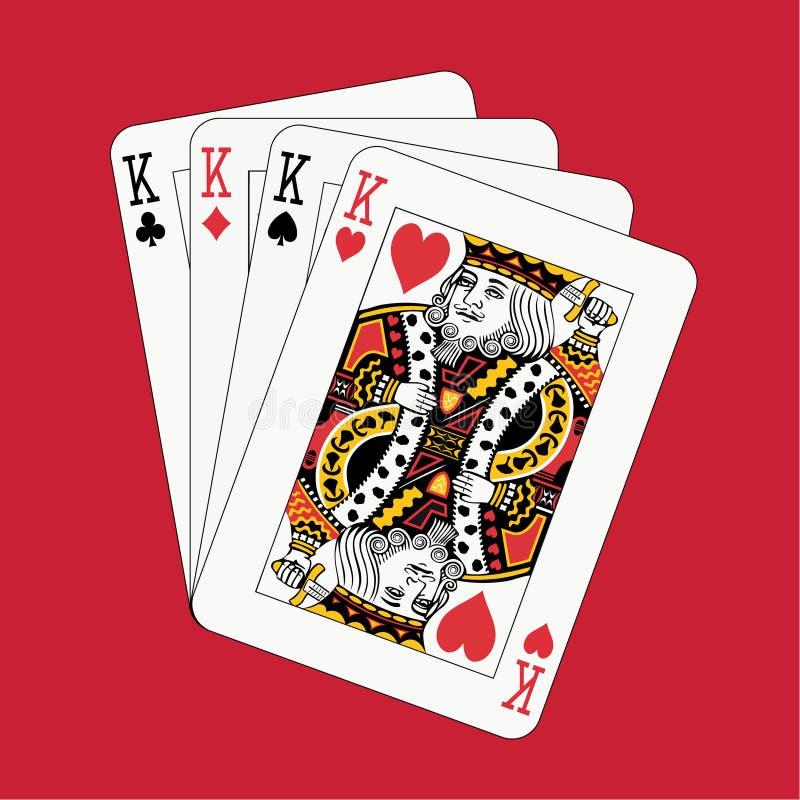 król w czerwieni royalty ilustracja