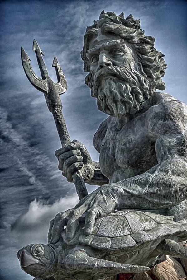 króla Neptuna zdjęcia royalty free