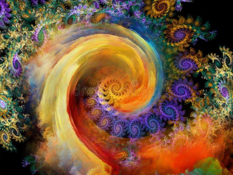 Królestwo; L10A:dziedzina spirala wzór royalty ilustracja
