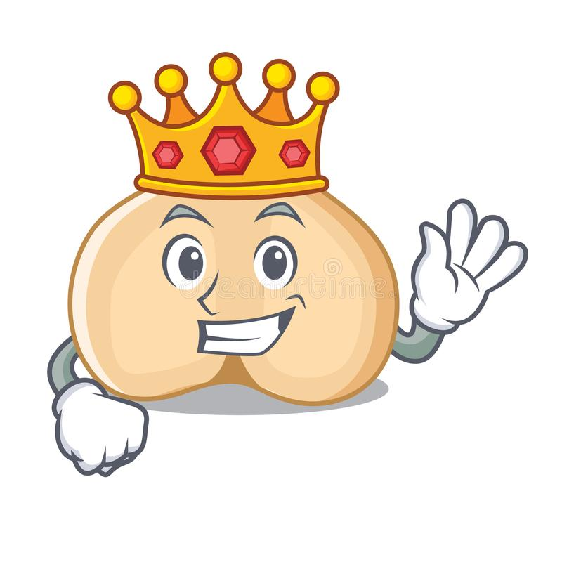 Królewiątek chickpeas maskotki kreskówki styl royalty ilustracja