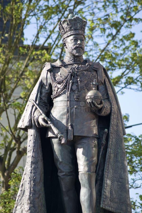Królewiątka Edward VII statua, Czytanie, Berkshire zdjęcie stock