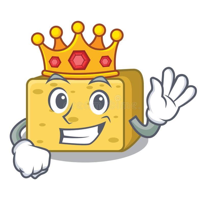Królewiątka gouda sera maskotki kreskówka ilustracja wektor