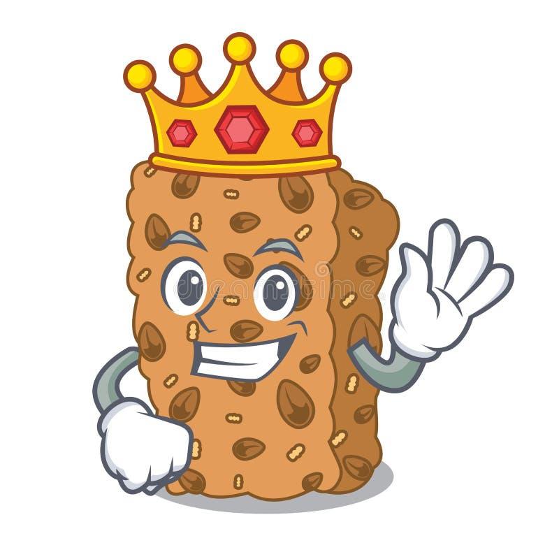 Królewiątka granola baru maskotki kreskówka royalty ilustracja
