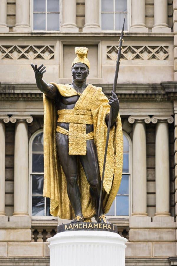 Królewiątka kamehameha statua Hawaii obrazy stock