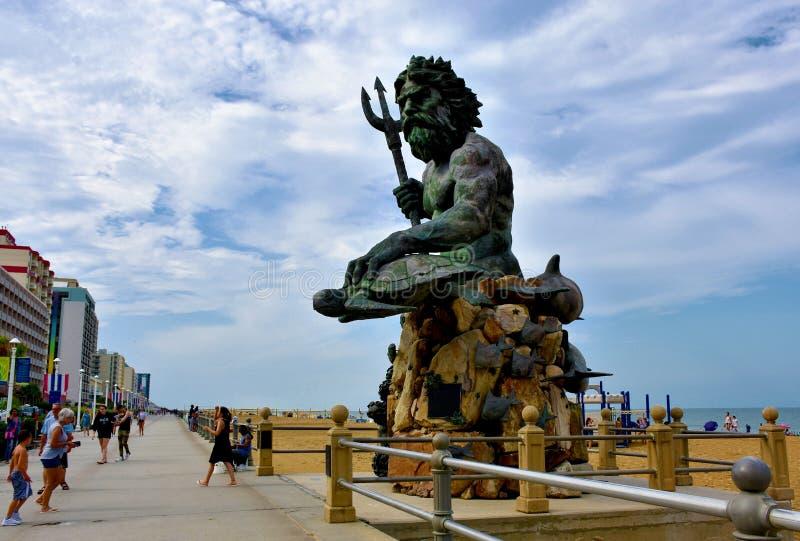 Królewiątka Neptune statua na Virginia plaży obrazy stock
