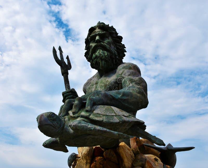 Królewiątka Neptune statua na Virginia plaży zdjęcie royalty free