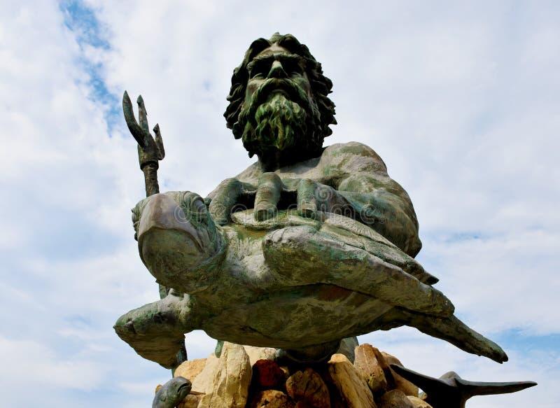 Królewiątka Neptune statua na Virginia plaży obraz royalty free