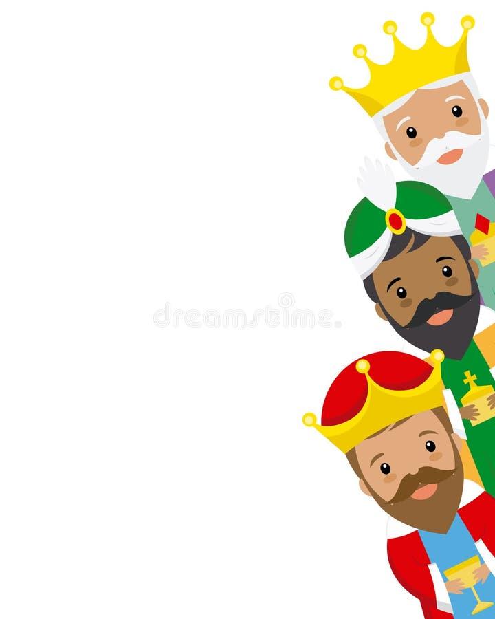 królewiątka Orient trzy royalty ilustracja