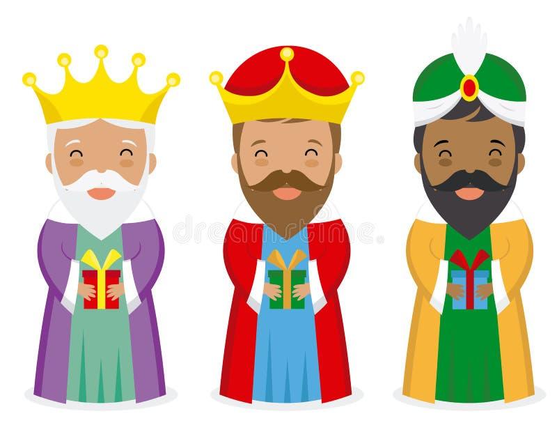 królewiątka Orient trzy ilustracja wektor