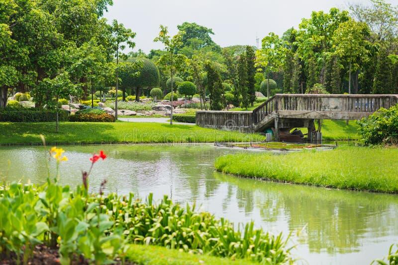 Królewiątka Rama IX park zdjęcia royalty free