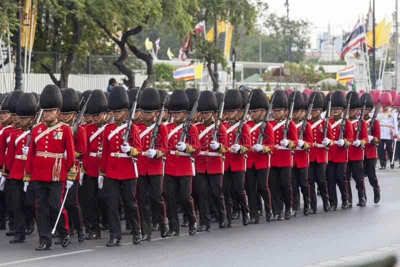 Królewiątka ` s strażnik Tajlandzki Królewski wojsko zdjęcia royalty free