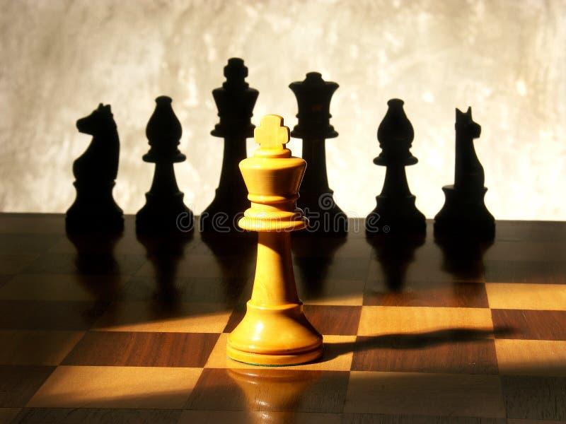 królewiątka szachowy światło reflektorów obraz stock