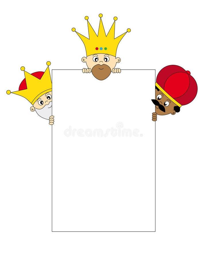 królewiątka trzy ilustracja wektor