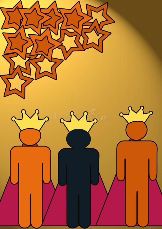 królewiątka trzy royalty ilustracja