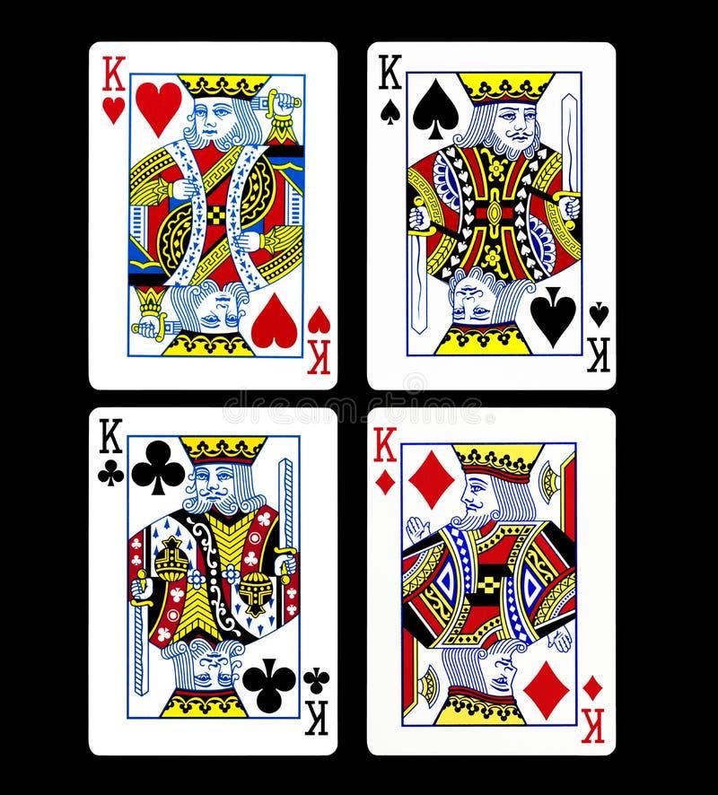 Królewiątka ustalony karta do gry odizolowywający fotografia stock