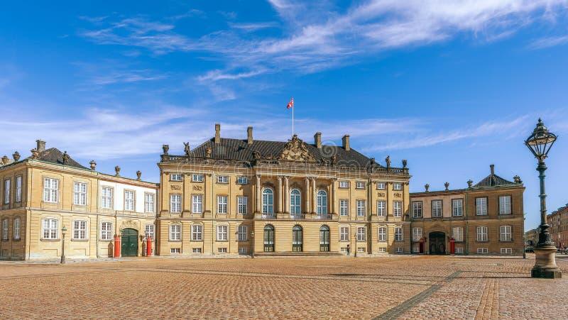 Królewiątka viii Chrześcijański pałac Amalienborg copenhagen Dani zdjęcia stock