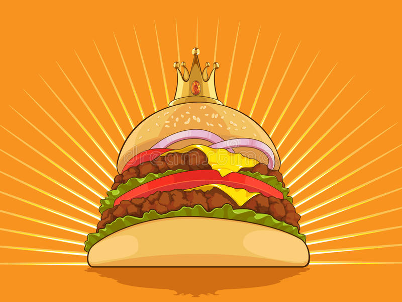 Królewiątko Hamburger royalty ilustracja