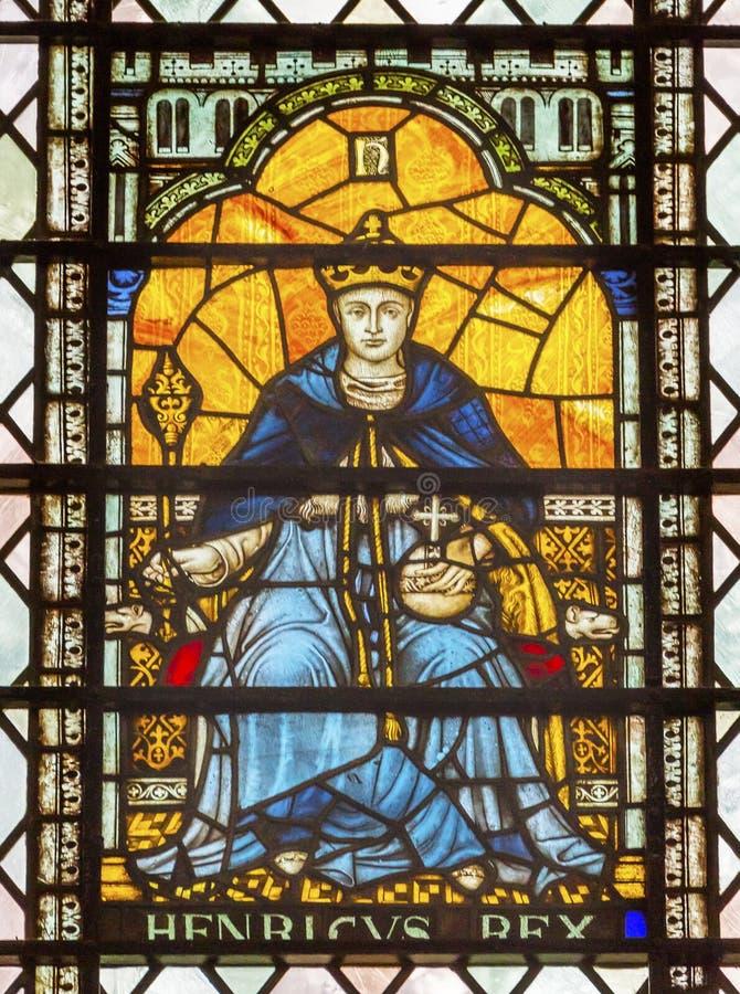 Królewiątko Henry 5 witraży opactwo abbey Londyn Anglia obraz royalty free