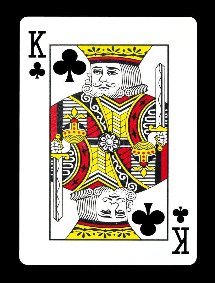 Królewiątko klubu karta do gry, obrazy royalty free