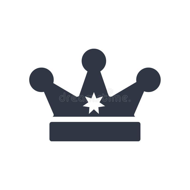 Królewiątko korony ikony wektoru znak i symbol odizolowywający na białym tle, królewiątko korony logo pojęcie ilustracja wektor