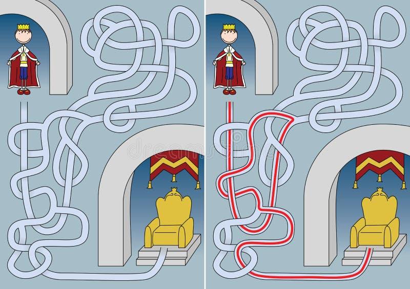 Królewiątko labirynt ilustracja wektor