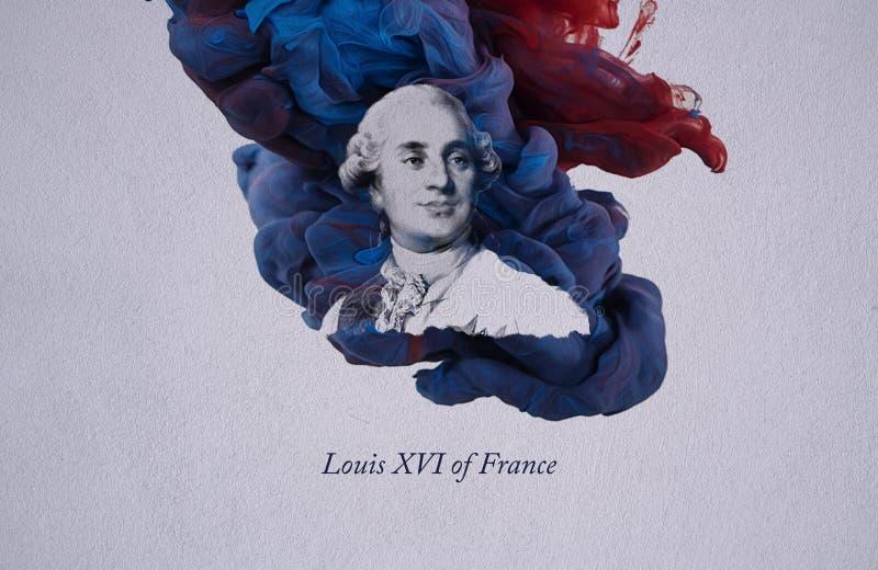 Królewiątko Louis XVI Francja ilustracji