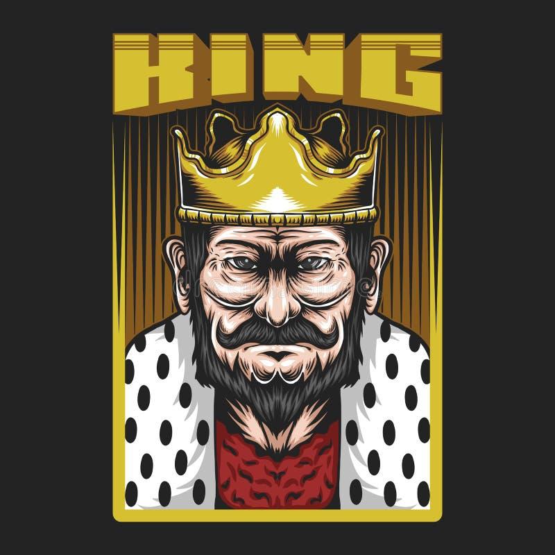 Królewiątko mężczyzny wektoru ilustracja royalty ilustracja