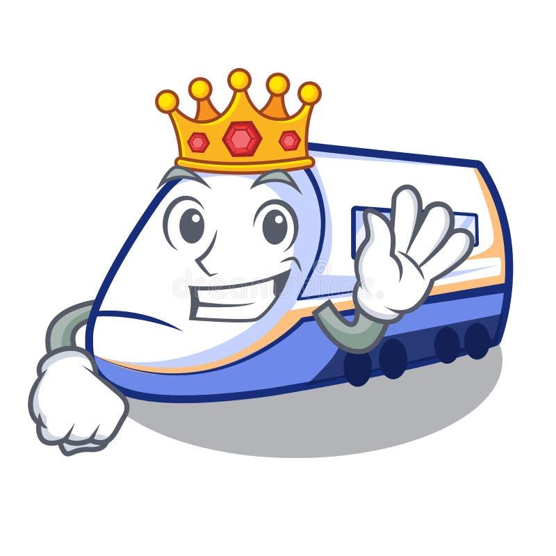 Królewiątko miniatura shinkansen pociąg w kreskówka kształcie royalty ilustracja