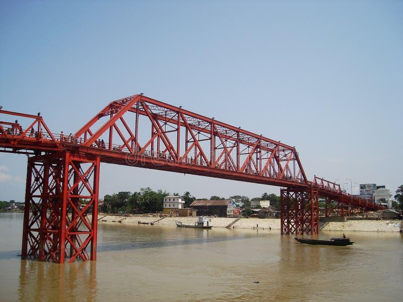 Królewiątko most, Sylhet, Bangladesz 2007 fotografia stock