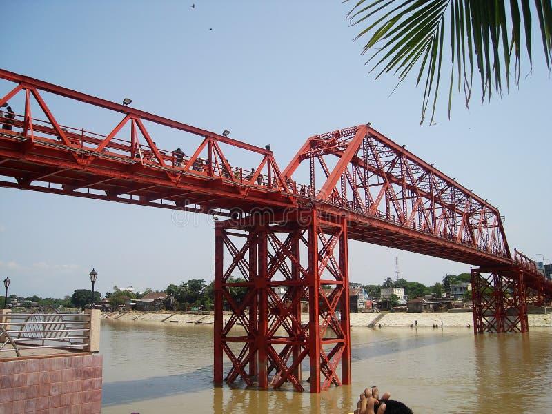 Królewiątko most, Sylhet, Bangladesz 2007 zdjęcia stock