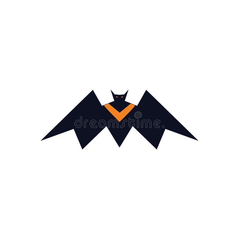Królewiątko nietoperza wampira logo pojęcie ilustracji
