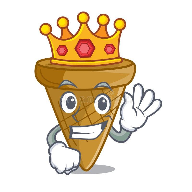 Królewiątko opłatka słodki rożek odizolowywający na maskot royalty ilustracja