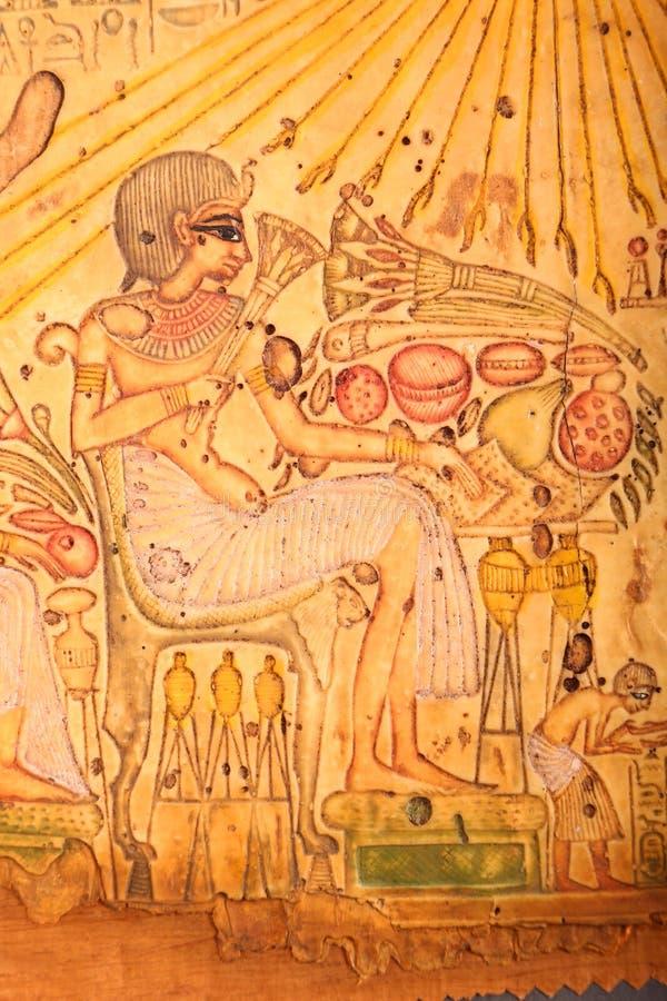 Królewiątko stary Egipt królewiątko na papirusie zdjęcia royalty free