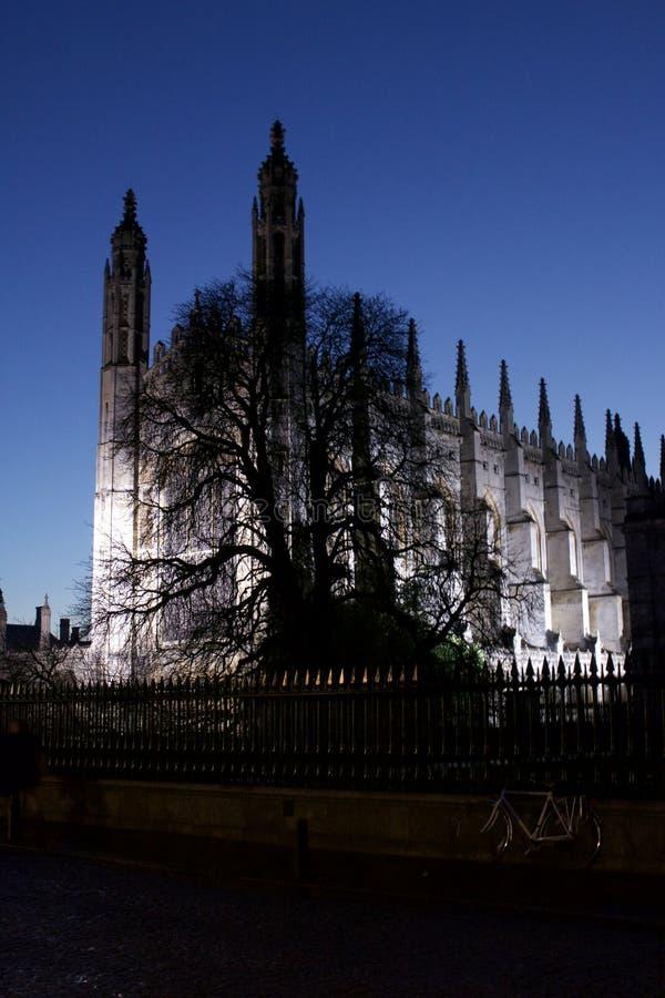 Królewiątko szkoły wyższa kaplica w Cambridge zdjęcie royalty free