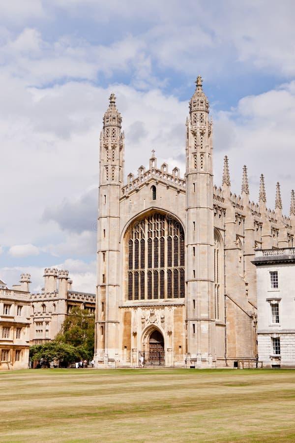 Królewiątko szkoły wyższa kaplicy uniwersytet w cambridge obraz royalty free