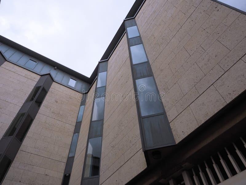 Królewiątko szkoły wyższej Keynes budynek w Cambridge zdjęcia stock