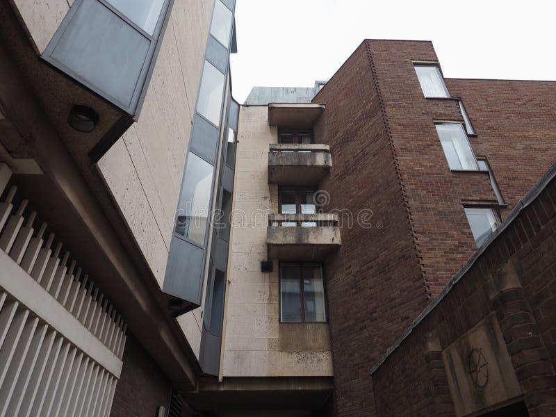 Królewiątko szkoły wyższej Keynes budynek w Cambridge obrazy royalty free