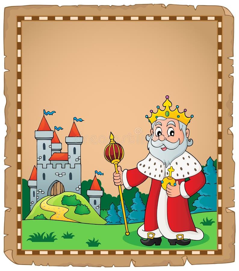 Królewiątko tematu pergamin 1 ilustracja wektor
