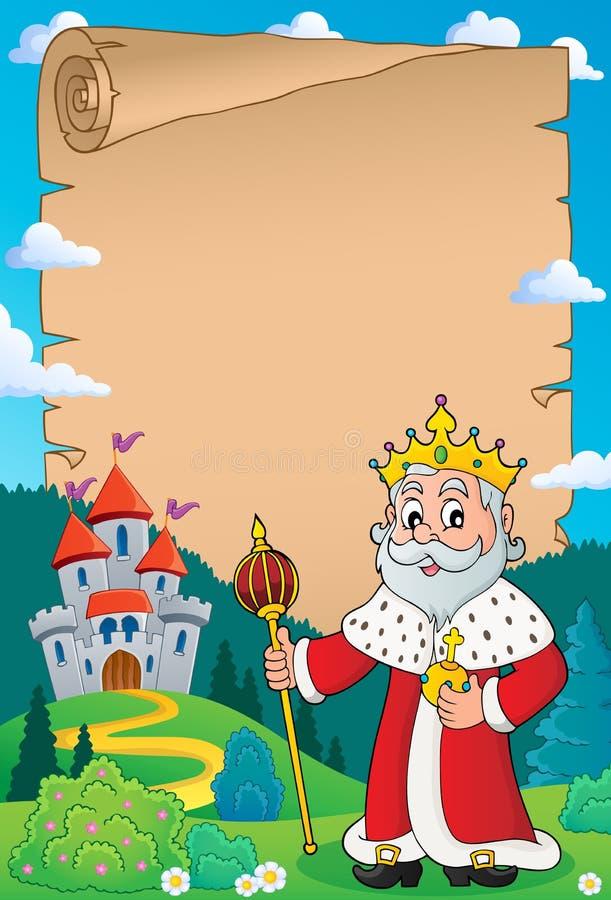 Królewiątko tematu pergamin 3 ilustracja wektor