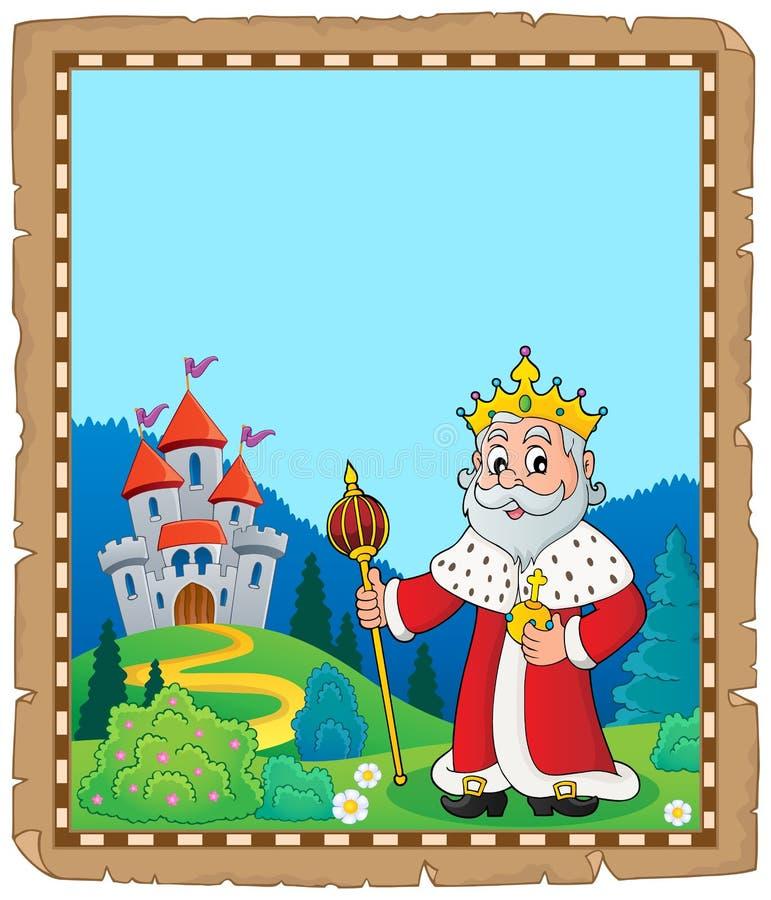 Królewiątko tematu pergamin 2 ilustracja wektor