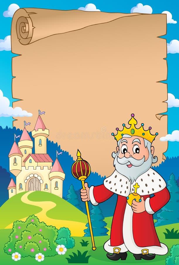 Królewiątko tematu pergamin 4 ilustracji