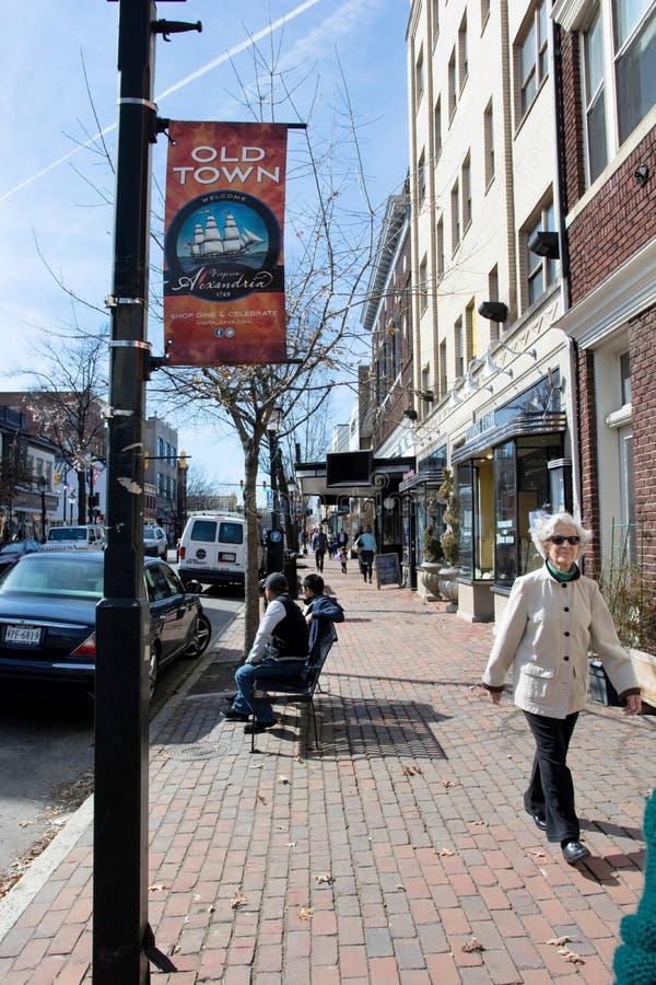 Królewiątko ulica Aleksandria, Virginia (,) zdjęcia stock