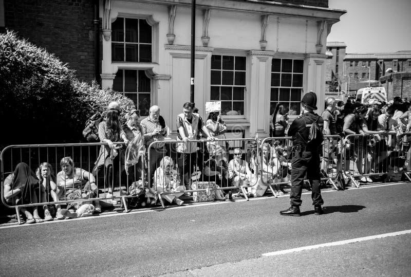 Królewska Ślubna atmosfera w Windsor fotografia royalty free