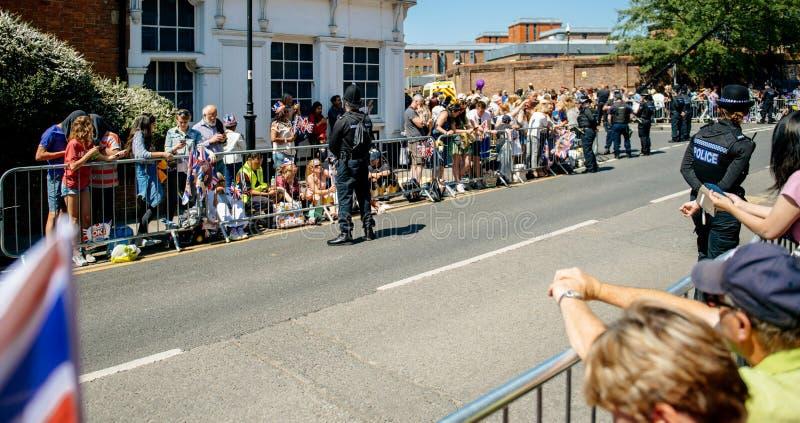 Królewska Ślubna atmosfera w Windsor obrazy royalty free