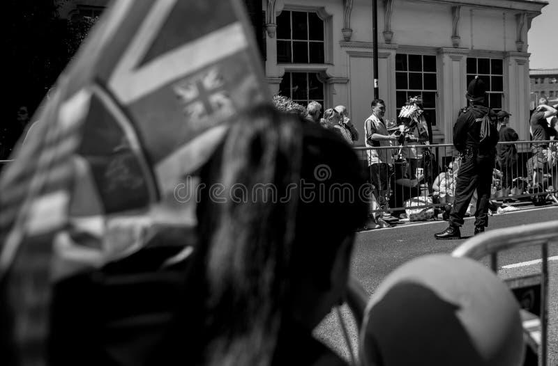 Królewska Ślubna atmosfera w Windsor obraz stock