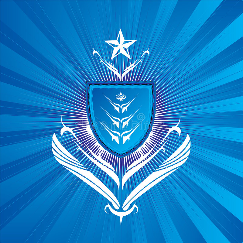 królewska blue shield ilustracji