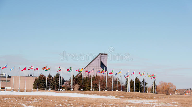 Królewska kanadyjczyk mennica w Winnipeg, Manitoba obrazy royalty free