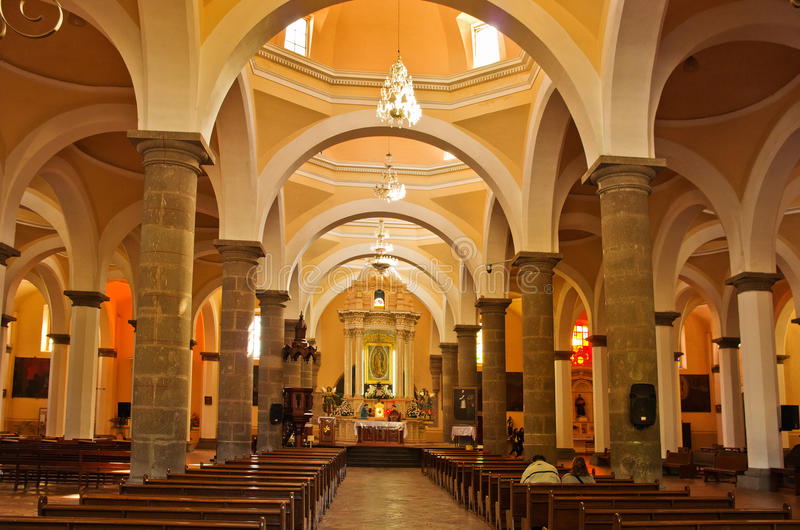 Królewska kaplica w Cholula, Puebla, Meksyk obraz stock