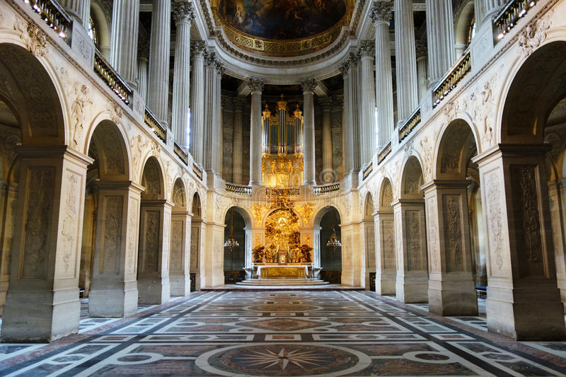 Królewska kaplica w Versailles zdjęcia royalty free