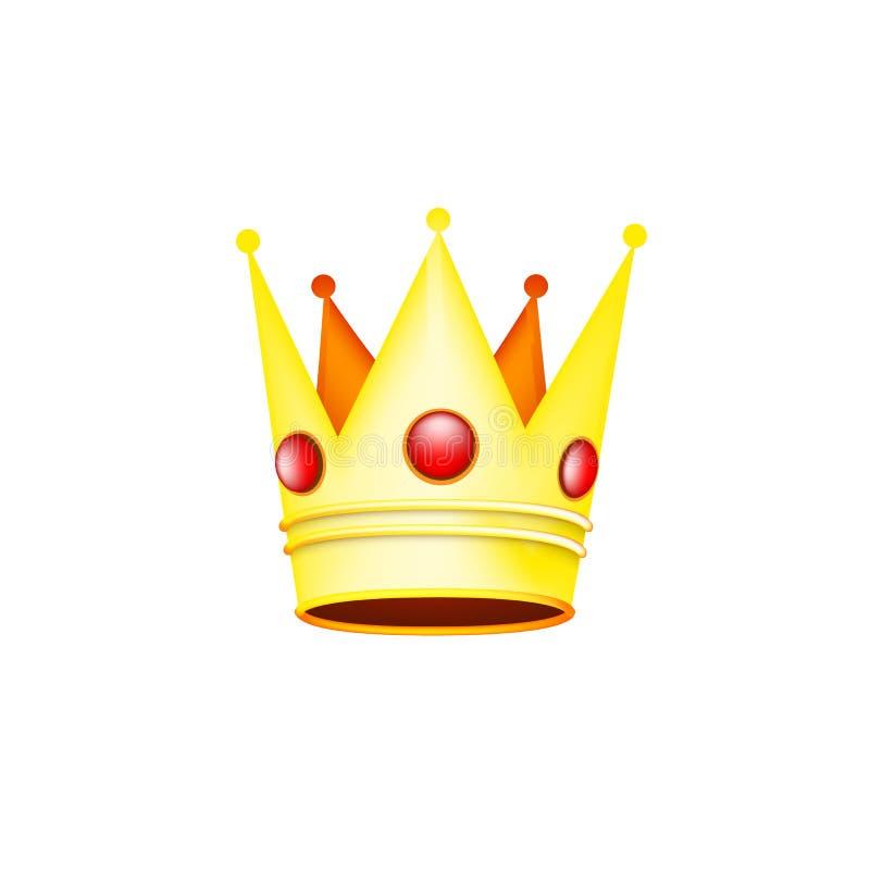 Królewska korona dla królowej lub królewiątka ilustracja wektor